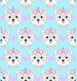 pattern with head dog vector image