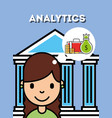 people analytics business vector image vector image