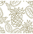 pineapple fruit pattern seamless template vector image vector image