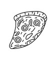 pizza icon doodle hand drawn or black outline vector image