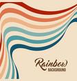 retrowave 80s art retro rainbow vector image
