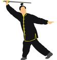 samurai sword vector image vector image