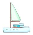 Sea yacht icon cartoon style vector image vector image
