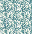 seamless beige floral pattern in style of vector image vector image
