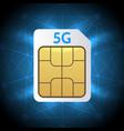 sim card 5g vector image vector image