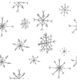 snowflakes seamless pattern bw vector image vector image