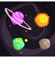 Solar System Planets Including Sun Earth Jupiter vector image