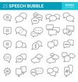 speech bubble icons set comic dialog clouds vector image
