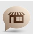 Store sign Brown gradient icon on vector image vector image