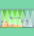 studio film production concept banner cartoon vector image vector image