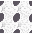 Stylized seamless pattern with hand drawn lemon vector image vector image
