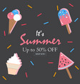 summer sale up to 50 vector image vector image