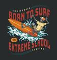 surfing school vintage colorful logo vector image vector image
