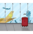 travel suitcases inside airport vector image vector image