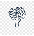 tree of love concept linear icon isolated on vector image