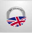 united kingdom my country flag badge vector image