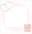 Valentine day card with two hearts vector | Price: 1 Credit (USD $1)