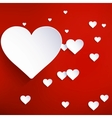 Hearts on abstract background EPS 10 vector image