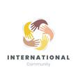 community logo international communication vector image