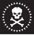 Skull - original graphic logo vector image