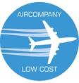 Variant of aircompany logo vector image