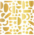 abstract gold foil shapes on white seamless vector image vector image