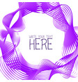 abstract line template summer lilac background vector image vector image
