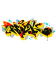 abstract rock graffiti style font lettering vector image vector image