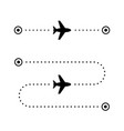 airplane flight route glyph icon vector image vector image