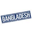 bangladesh blue square stamp vector image vector image