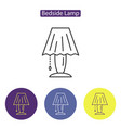 bedside lamp line icon vector image