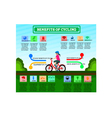 Benefit of Cycling Cartoon Infographic Design vector image vector image