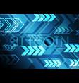 bitcoin with arrow vector image