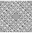 black and white geometric striped greek seamless vector image