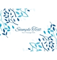blue forest horizontal double corners frame vector image vector image