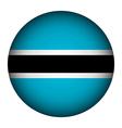 Botswana flag button vector image vector image