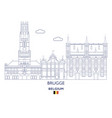 brugge city skyline vector image vector image