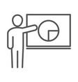 businessman board presentation chart report vector image