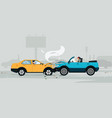 car crash vector image