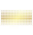 car gold halftone pattern vector image vector image