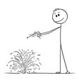 cartoon dowser or diviner searching for water vector image vector image