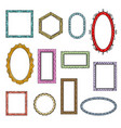 cartoon flat picture frames vector image vector image