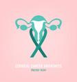 cervical cancer awareness vector image