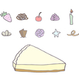 Cheesecake with different topping vector image