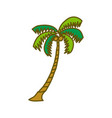 coconut tree design template vector image