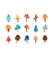 Colored Tree Icons Set vector image vector image