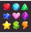 Colorful glossy shapes icons set vector image vector image
