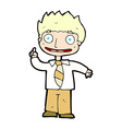 comic cartoon man with idea vector image vector image