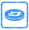 dash coin framed stamp vector image vector image