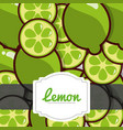 delicious lemon fresh fruit label pattern vector image